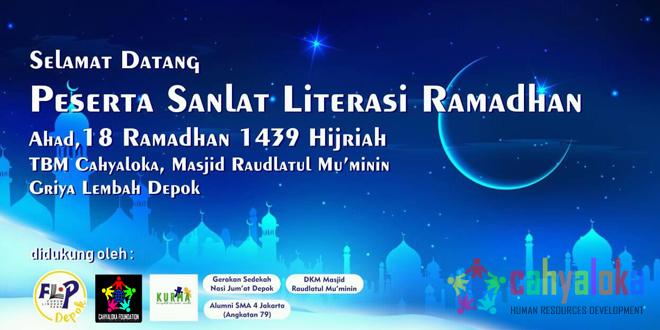 Sanlat Literasi Ramadhan 1439