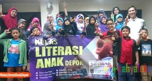 Kelas Literasi Anak Depok, Sabtu 29 September 2018