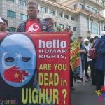 Aksi Mengepung Kedutaan Besar China